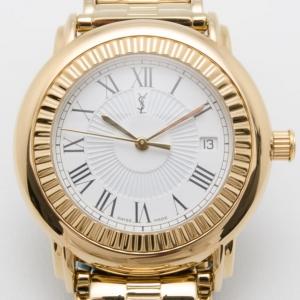 Yves Saint Laurent Full Gold Plated Herrenuhr Unisex Wristwatch