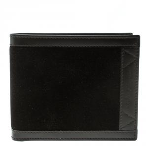 Salvatore Ferragamo Brown Leather and Suede Bifold Wallet