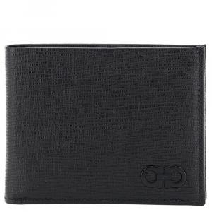 Salvatore Ferragamo Black Leather Gancini Bifold Wallet