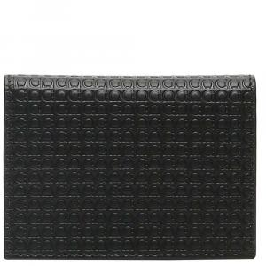 Salvatore Ferragamo Black Gancini Micro Bi-Fold Cardholder