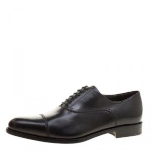 Salvatore Ferragamo Black Leather Guru Francesina Oxfords Size 45