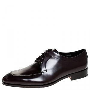 Salvatore Ferragamo Brown Leather Lanier Derby Size 44.5