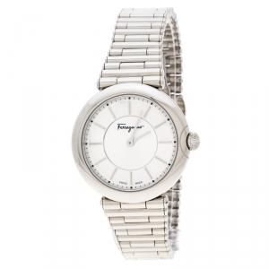 Salvatore Ferragamo Silver Stainless Steel FIN040015 Men's Wristwatch 36 mm