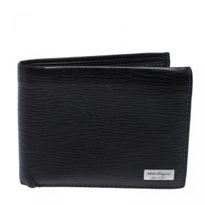 Salvatore Ferragamo Black Leather Bifold Wallet