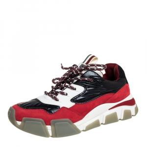 Salvatore Ferragamo Multicolor Mix Media Booster 8 Low Top Sneakers Size 44