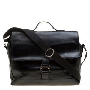 Salvatore Ferragamo Black Leather Briefcase