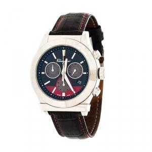 Salvatore Ferragamo Black Stainless Steel FFM100016 Men's Wristwatch 42 mm
