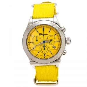 Salvatore Ferragamo Yellow Stainless Steel FF3030013 Men's Wristwatch 42 mm