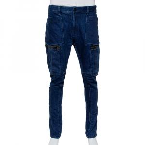 بنطلون جينز ستون أيلاند دينم أزرق كحلي جيوب كارجو مقاس متوسط - ميديوم