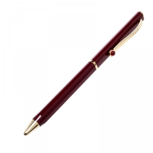 S.T. Dupont Mon Dupont Lotus Red Lacquer Gold Finish Ballpoint Pen