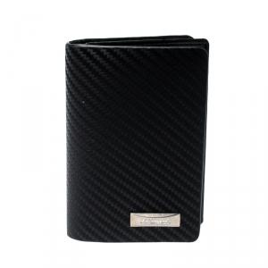 S.T Dupont Black Carbon Leather Business Card Case