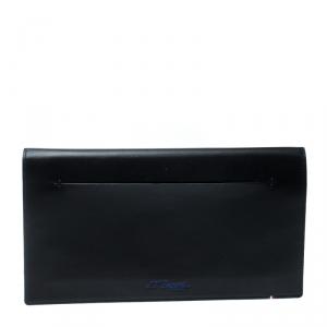 S.T. Dupont Black/Blue Leather Line D Slim Organizer