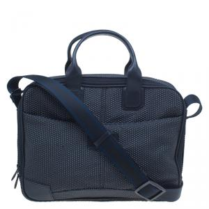 S.T. Dupont Black Textured Leather Laptop Bag w/ Battery Pouch