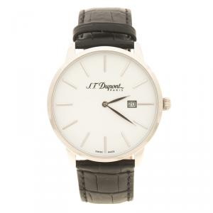 S.T. Dupont White Stainless Steel Men's Wristwatch 39 mm