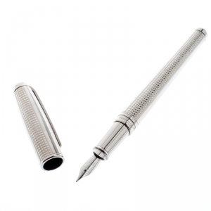 S.T. Dupont Olympio Textured Palladium Finish Fountain Pen