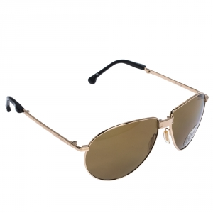 S.T Dupont Gold Tone/ Brown Polarized DP- 7010 Foldable Aviator Sunglasses