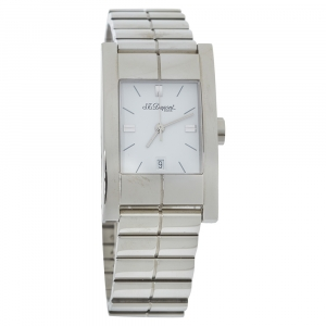 S.T. Dupont White Stainless Steel 131C8AB17 Men's Wristwatch 25MM