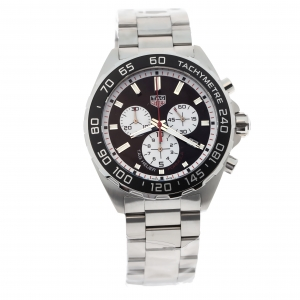 Tag Heuer Black Stainless Steel Formula 1 Chronograph CAZ101E.BA0842 Men's Wristwatch 43 mm