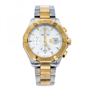 """ساعة يد رجالية تاغ هيوير """"اكواريسير كاليبر 16 سي ايه واي2121.بي بي0923"""" ستانلس ستيل لونين فضية 43 مم"""