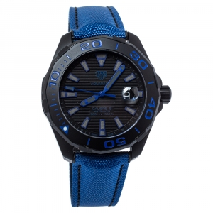 Tag Heuer Black PVD Coated Titanium Aquaracer WAY208B Automatic Men's Wristwatch 43 MM