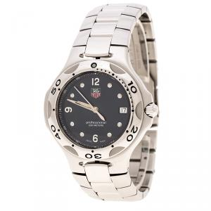 ساعة يد رجالية تاغ هيوير كيريوم WL 1310 ستانلس ستيل زرقاء 39 مم