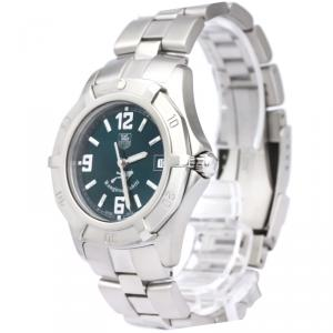 Tag Heuer Green Stainless Steel 2000 Series Men's Wristwatch 38MM