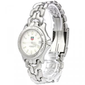Tag Heuer White Stainless Steel S/EL Professional Men's Wristwatch 34MM