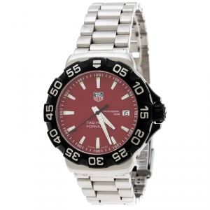 Tag Heuer Red Stainless Steel Formula 1 WAH1112 Men's Wristwatch 41 mm