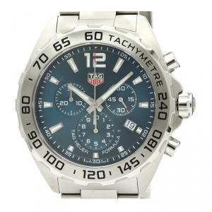 Tag Heuer Blue Stainless Steel Formula 1 Chronograph CAZ101K Men's Wristwatch 43MM