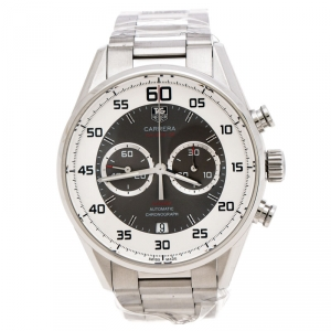 Tag Heuer Grey Stainless Steel Carrera Calibre 36 Flyback CAR2B11.BA0799 Men's Wristwatch 43 mm