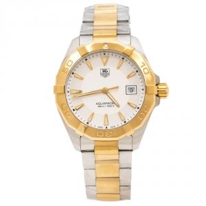 ساعة يد رجالية تاغ هيوير Aquaracer WAY1120.BB0930 ستانلس ستيل لونين Opaline فضة 40.50 مم