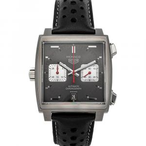 Tag Heuer Black Stainless Steel Monaco Chronograph Special Edition CAW211Z.FC6470 Men's Wristwatch 39 MM x 39 MM