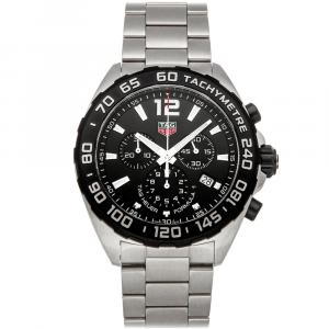 Tag Heuer Black Stainless Steel Formula 1 Chronograph CAZ1010.BA0842 Men's Wristwatch 43 MM