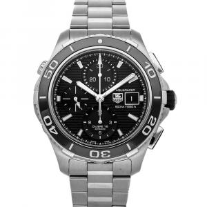 Tag Heuer Black Stainless Steel Aquaracer 500M Chronograph CAK2110.BA0833 Men's Wristwatch 43 MM