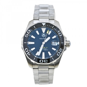 Tag Heuer Black Ceramic Stainless Steel Aquaracer WAY211A.BA0928 Men's Wristwatch 41 mm