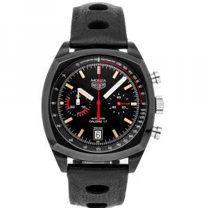 Tag Heuer Black Titanium Heritage Monza Chronograph Limited Edition CR2080.FC6375 Men's Wristwatch 42 MM