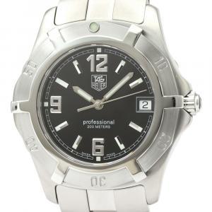 Tag Heuer Black Stainless Steel 2000 WN1110 Quartz Men's Wristwatch 37 MM