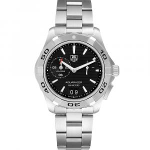 Tag Heuer Black Stainless Steel Aquaracer WAP111Z Men's Wristwatch 39 MM