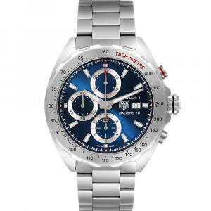 Tag Heuer Blue Stainless Steel Formula 1 Chronograph CAZ2015 Men's Wristwatch 44 MM