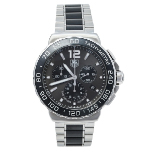 Tag Heuer Sunray Athracite Grey Stainless Steel Formula 1 CAU1115.BA0869 Men's Wristwatch 42 mm