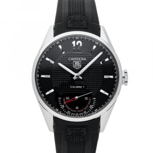 Tag Heuer Black Stainless Steel Carrera Calibre 1 Limited Edition WV3010.EB0025 Men's Wristwatch 44 MM