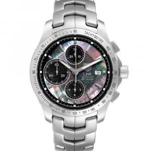 Tag Heuer MOP Stainless Steel Link Ayrton Senna CJF211K Men's Wristwatch 42 MM