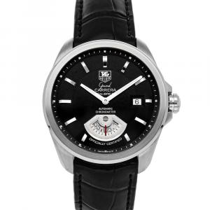 Tag Heuer Black Stainless Steel Grand Carrera WAV511A.FC6224 Men's Wristwatch 40 MM