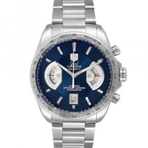 Tag Heuer Blue Stainless Steel Grand Carrera Limited Edition CAV511F Men's Wristwatch 43 MM