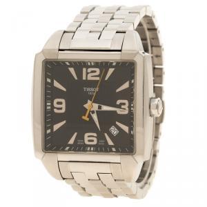 Tissot Black Stainless Steel Quadrato Men's Wristwatch 38 mm