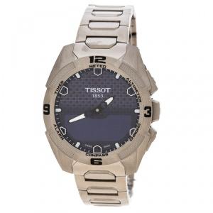 Tissot Blue T-Touch Solar Titanium T091420A Men's Wristwatch 45 mm