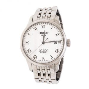 Tissot Silver White Stainless Steel T-Classic Le Locle T41.1.423.33 Men's Wristwatch 39 mm