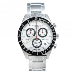 Tissot Silver Stainless Steel PRS 516 Men's Wristwatch 42 mm