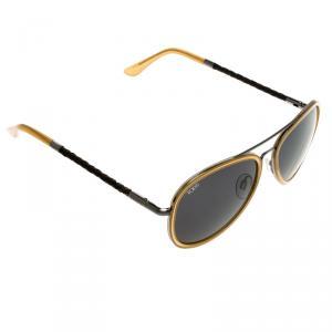 Tod's Black/Yellow TO 99 60V Aviator Sunglasses
