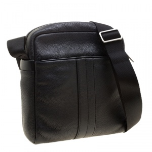 Tod's Black Leather Pillow Reporter Bag